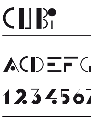Font – Cubi
